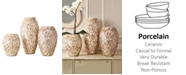 Two's Company Mother of Pearl Vases, Set of 3