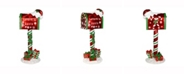"Vickerman 36"" Red Mailbox that says Letters To Santa featuring gifts"
