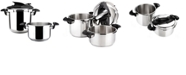 Magefesa Nova 4 and 6 Qt. 2-Pc. Stainless Steel Pressure Cookers Set