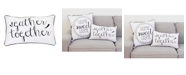 """THRO Polyester Fill Gary Gather Together Pillow, 12"""" x 20"""""""