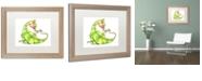 "Trademark Global Jennifer Nilsson A Gift for You - Dragon 3 Matted Framed Art - 11"" x 14"" x 0.5"""