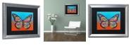 """Trademark Global Dean Russo 'Butterfly' Matted Framed Art, 16"""" x 20"""""""