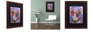 "Trademark Global Dean Russo 'Bull Terrier Luv' Matted Framed Art, 16"" x 20"""