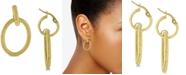 Macy's Double Hoop Drop Earrings in 14k Gold