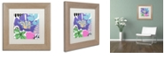 """Trademark Global Color Bakery 'French Poodle Ii' Matted Framed Art, 11"""" x 11"""""""