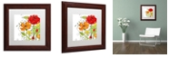 "Trademark Global Color Bakery 'Aria Ii' Matted Framed Art, 11"" x 11"""