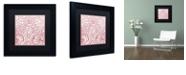 "Trademark Global Color Bakery 'Dulce Iii' Matted Framed Art, 11"" x 11"""