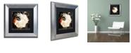 """Trademark Global Color Bakery 'Rooster Damask I' Matted Framed Art, 11"""" x 11"""""""