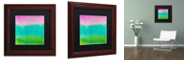 "Trademark Global Color Bakery 'Gradients I' Matted Framed Art, 11"" x 11"""