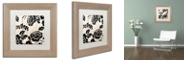 "Trademark Global Color Bakery 'Stylesque Iii' Matted Framed Art, 11"" x 11"""