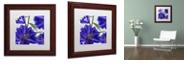 "Trademark Global Color Bakery 'Delphine Ii' Matted Framed Art, 11"" x 11"""
