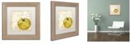 "Trademark Global Color Bakery 'Cafe D?Or Ix' Matted Framed Art, 11"" x 11"""