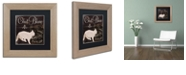 """Trademark Global Color Bakery 'Les Chats I' Matted Framed Art, 11"""" x 11"""""""