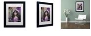 """Trademark Global Color Bakery 'Art Nouveau Zodiac Taurus' Matted Framed Art, 11"""" x 14"""""""