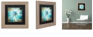 "Trademark Global Color Bakery 'Himalayan Blue Ii' Matted Framed Art, 11"" x 11"""