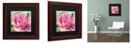 """Trademark Global Color Bakery 'Pink Magnolia I' Matted Framed Art, 11"""" x 11"""""""