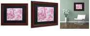"Trademark Global Color Bakery 'Toile Fabrics Iv' Matted Framed Art, 11"" x 14"""