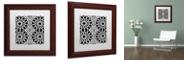 "Trademark Global Color Bakery 'Suriah Iii' Matted Framed Art, 11"" x 11"""