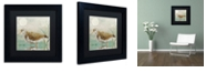 "Trademark Global Color Bakery 'Sand Piper Ii' Matted Framed Art, 11"" x 11"""