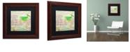 """Trademark Global Color Bakery 'Cocktail Quartet Ii' Matted Framed Art, 11"""" x 11"""""""