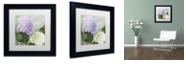 """Trademark Global Color Bakery 'Hortensia 1' Matted Framed Art, 11"""" x 11"""""""