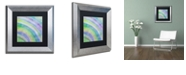 "Trademark Global Color Bakery 'Cold' Matted Framed Art, 11"" x 11"""