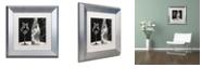 "Trademark Global Color Bakery 'Vin Elegant I' Matted Framed Art, 11"" x 11"""