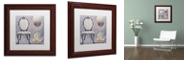 "Trademark Global Color Bakery 'Salon Ii' Matted Framed Art, 11"" x 11"""