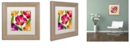 """Trademark Global Color Bakery 'Open Arms Iii' Matted Framed Art, 11"""" x 11"""""""
