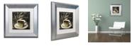 "Trademark Global Color Bakery 'Afrikan Coffee Iii' Matted Framed Art, 11"" x 11"""