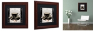 """Trademark Global Color Bakery 'Vintage Cafe Iii' Matted Framed Art, 11"""" x 11"""""""