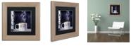"Trademark Global Color Bakery 'Cafe Blue Iii' Matted Framed Art, 11"" x 11"""