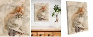 "Creative Gallery Winter Squirrel Watercolor 24"" X 36"" Canvas Wall Art Print"