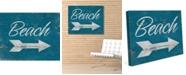 "Creative Gallery Vintage Beach Sign 20"" X 24"" Canvas Wall Art Print"