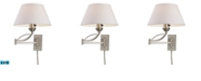 ELK Lighting D Elysburg 1-Light Swingarm Sconce in Satin Nickel