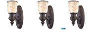 ELK Lighting Chadwick 1-Light Sconce Cappa Shell in Oiled Bronze