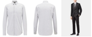 Hugo Boss BOSS Men's Slim Fit Micro-Pattern Cotton Shirt