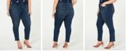 Vince Camuto Plus Size Frayed-Hem Skinny Jeans