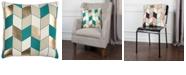 "Rizzy Home Rachel Kate 20"" x 20"" Geometrical Design Down Filled Pillow"