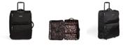 "Vera Bradley 26"" Lighten Up Large Foldable Roller Suitcase"