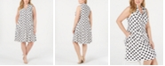Jessica Howard Plus Size Polka Dot A-Line Dress