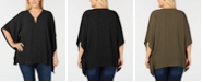 Michael Kors Plus Size Hardware Draped Tunic Top