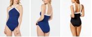 Lauren Ralph Lauren Beach Club High-Neck Tummy-Control One-Piece Swimsuit