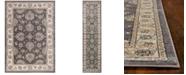 "Kas Avalon Kashan 5608 Grey/Ivory 2' x 7'7"" Runner Area Rug"