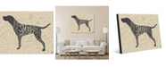 """Creative Gallery Traits of A Pointer Hunting Dog 20"""" x 24"""" Metal Wall Art Print"""