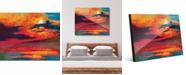 """Creative Gallery Vermillion Dusk Abstract 16"""" x 20"""" Acrylic Wall Art Print"""