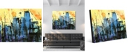 "Creative Gallery Hot Summer Night Abstract Cityscape 20"" x 24"" Acrylic Wall Art Print"