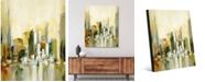 "Creative Gallery Urban Sun Abstract Cityscape 24"" x 36"" Acrylic Wall Art Print"