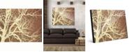 "Creative Gallery Tree Silhouette on Brown 20"" x 24"" Acrylic Wall Art Print"