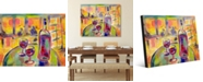 """Creative Gallery Rendez Vous Colorful Wine Abstract 16"""" x 20"""" Acrylic Wall Art Print"""